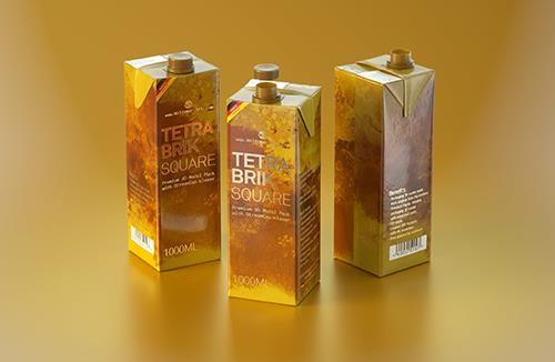 Tetra Pack Brick Square 1000ml with StreamCap Premium Packaging 3d model pak