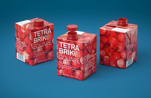 Tetra Pack Brick Square 500ml with HeliCap 27 3D model pak
