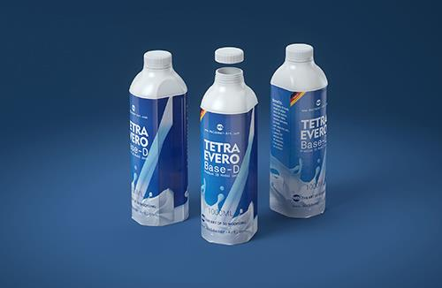 Milk Carton Packaging 3D model pak of Tetra Pack Evero Aseptic Base-D 1000ml with OrionTop O38A