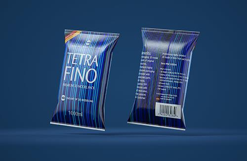 Tetra Pack FINO Continuous 1000ml Professional Packaging 3D model