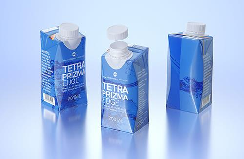 Tetra Pack Prizma EDGE 200ml with DreamCap Premium carton packaging 3D model pak