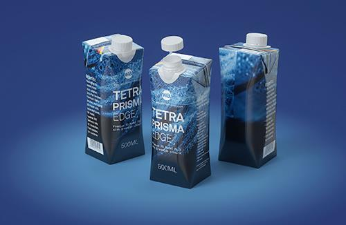 Tetra Pack Prisma EDGE 500ml with DreamCap Premium carton packaging 3D model pak