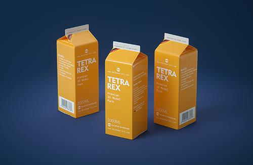 Tetra Pack REX 2000ml Professional carton packaging 3D model pak