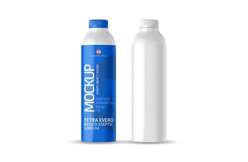 Packaging MockUp of Tetra Pak Evero Aseptic Base-D 1000ml with OrionTop-O38A Front View