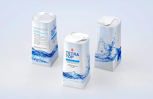Packaging 3D model of Tetra Pack Top Midi 330ml with Huron
