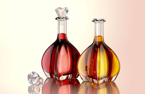 Lily - packaging 3d model of the bottle for oils, vinegar or wines