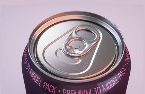 Beer/Soda Standard Aluminum Can 3d packaging model 500ml