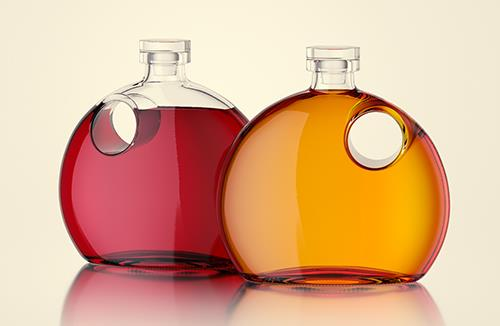 Nancy - packaging 3d model of the bottle for oils, vinegar or wine