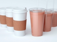 Packaging 3D visualization of the Coffee Cups