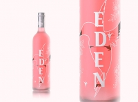 EDEN - packaging 3D visualization of the rose wine