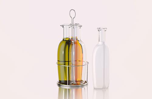 Triple-sauce - 3D model of a bottle for sauces